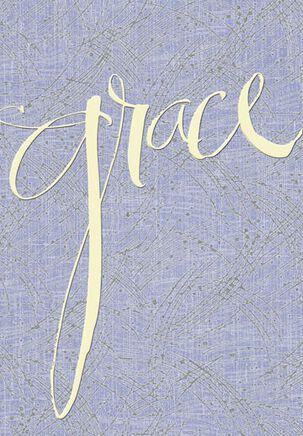 Grace and Prayer Sympathy Card