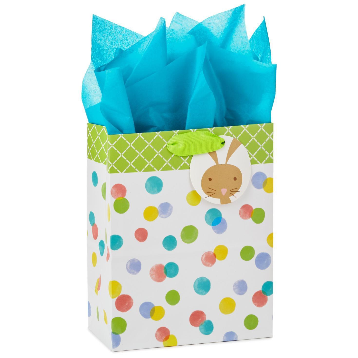 Polka Dots Medium Gift Bag With Bunny Tag and Tissue ...  sc 1 st  Hallmark & Polka Dots Medium Gift Bag With Bunny Tag and Tissue 9.6