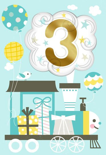 Chugga Chugga Train 3rd Birthday Card Greeting Cards Hallmark