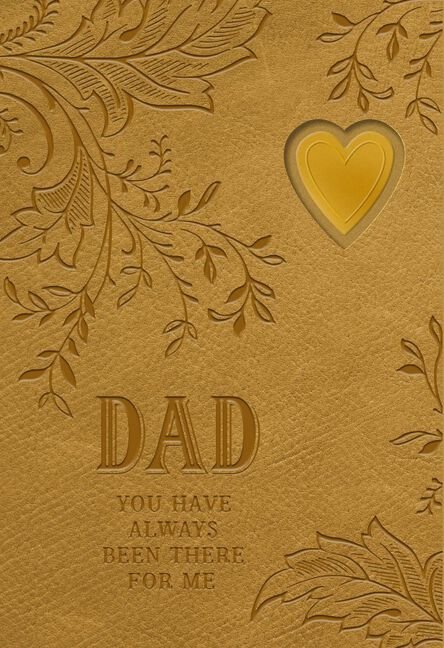 Heart with leaves on leather fathers day card from daughter m4hsunfo