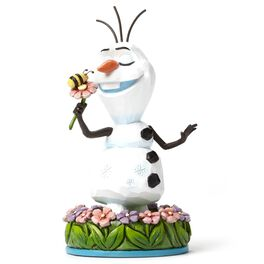 Jim Shore Disney Frozen Dreaming of Summer Olaf with Flowers Figurine, , large