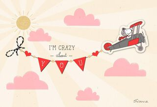 Peanuts® Snoopy Crazy About You Valentine's Day Card,