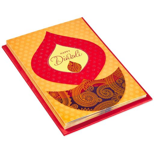 Diyas and Candles Diwali Cards, Pack of 6,