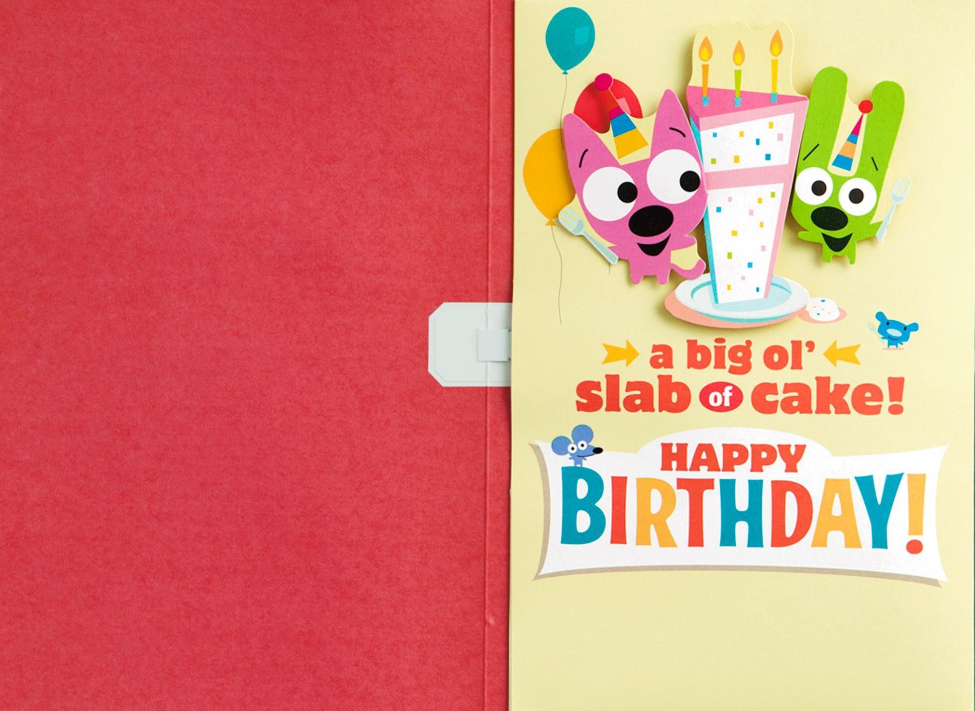 Hoops Amp Yoyo Cake Birthday Sound Card With Motion