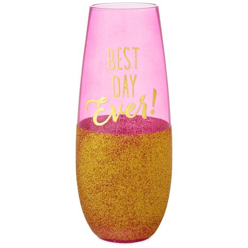 Best Day Ever Stemless Champagne Flute 11 Oz