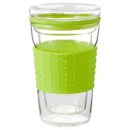 Lime Green Travel Mug With Tea Infuser, 13.5 oz., , large