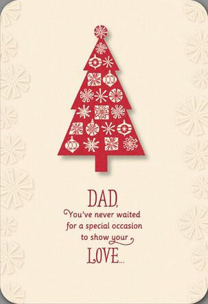 Loving Dad Christmas Tree Card