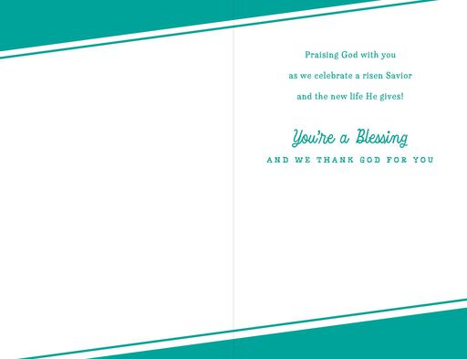 You're a Blessing Pastor and Family Religious Easter Card,