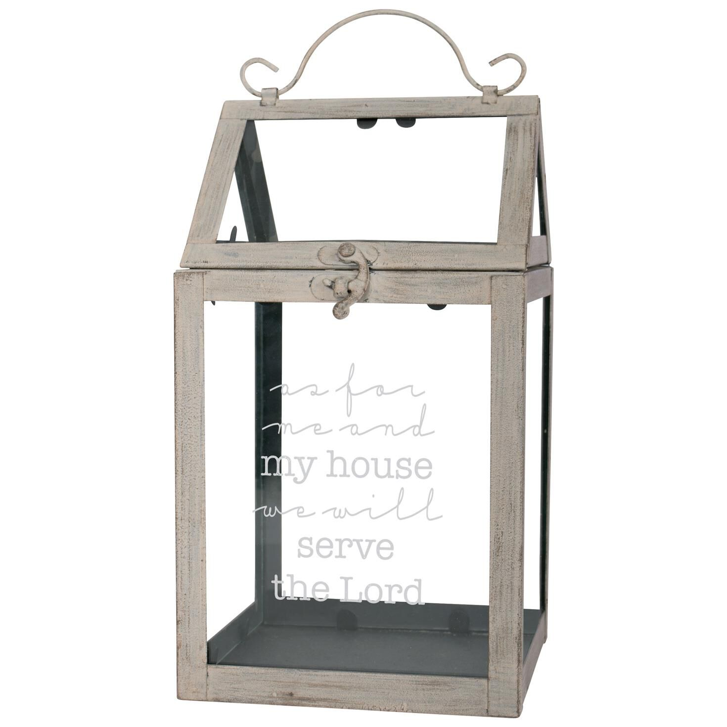 Serve The Lord Metal And Glass Tabletop Greenhouse