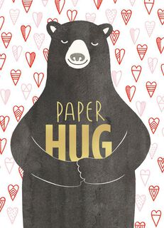 Paper Hug Valentine's Day Card,