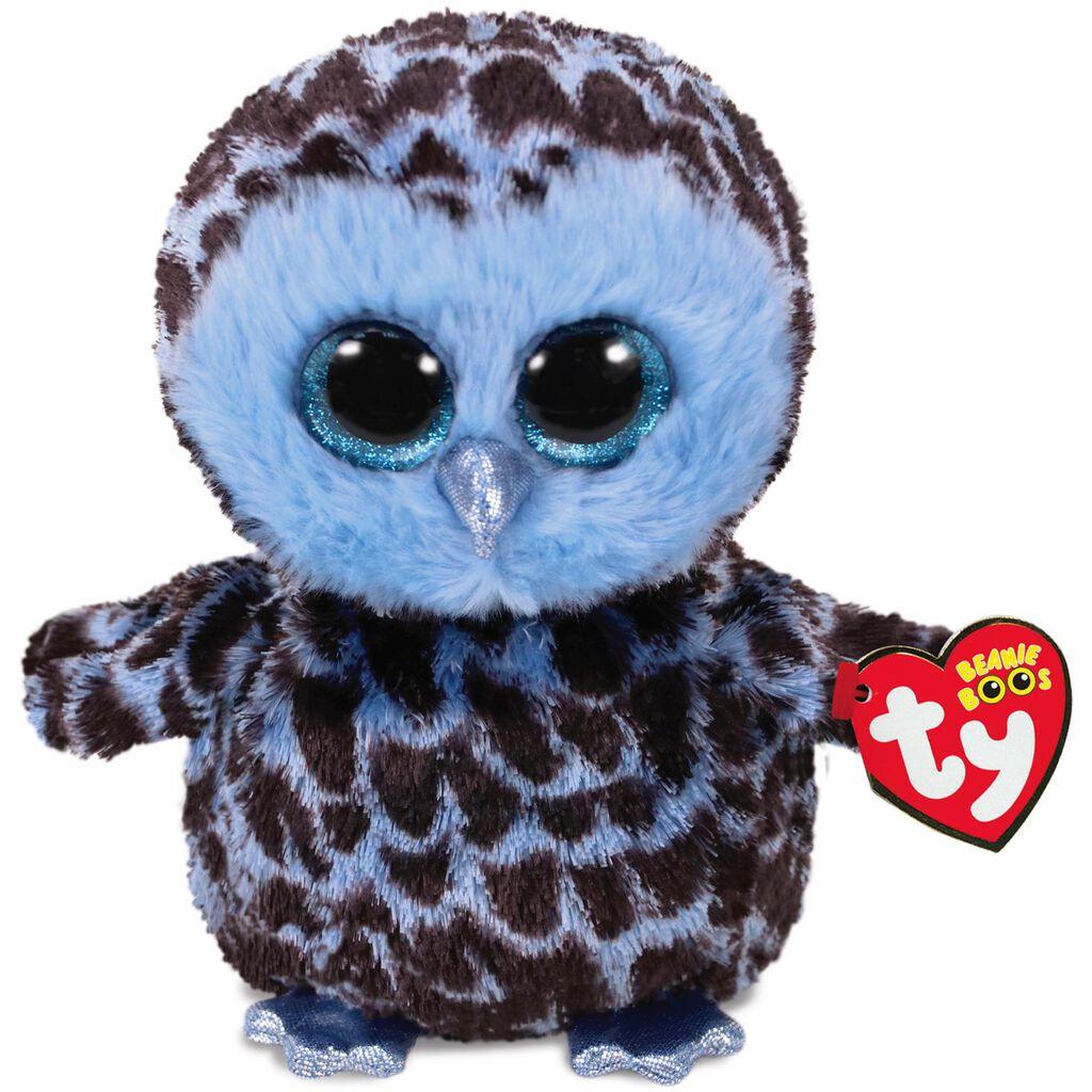 Ty® Beanie Boos Medium Yago Blue Owl Stuffed Animal ff5be2a7174