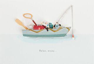 Fishing Boat Birthday Card for Dad,