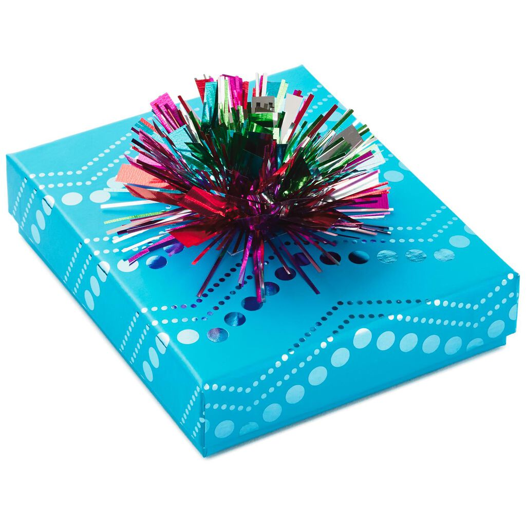 Turquoise Gift Card Holder Box With Bow Gift Card Holders Hallmark