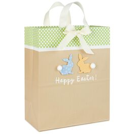 """Happy Easter Bunnies Large Gift Bag, 13"""", , large"""