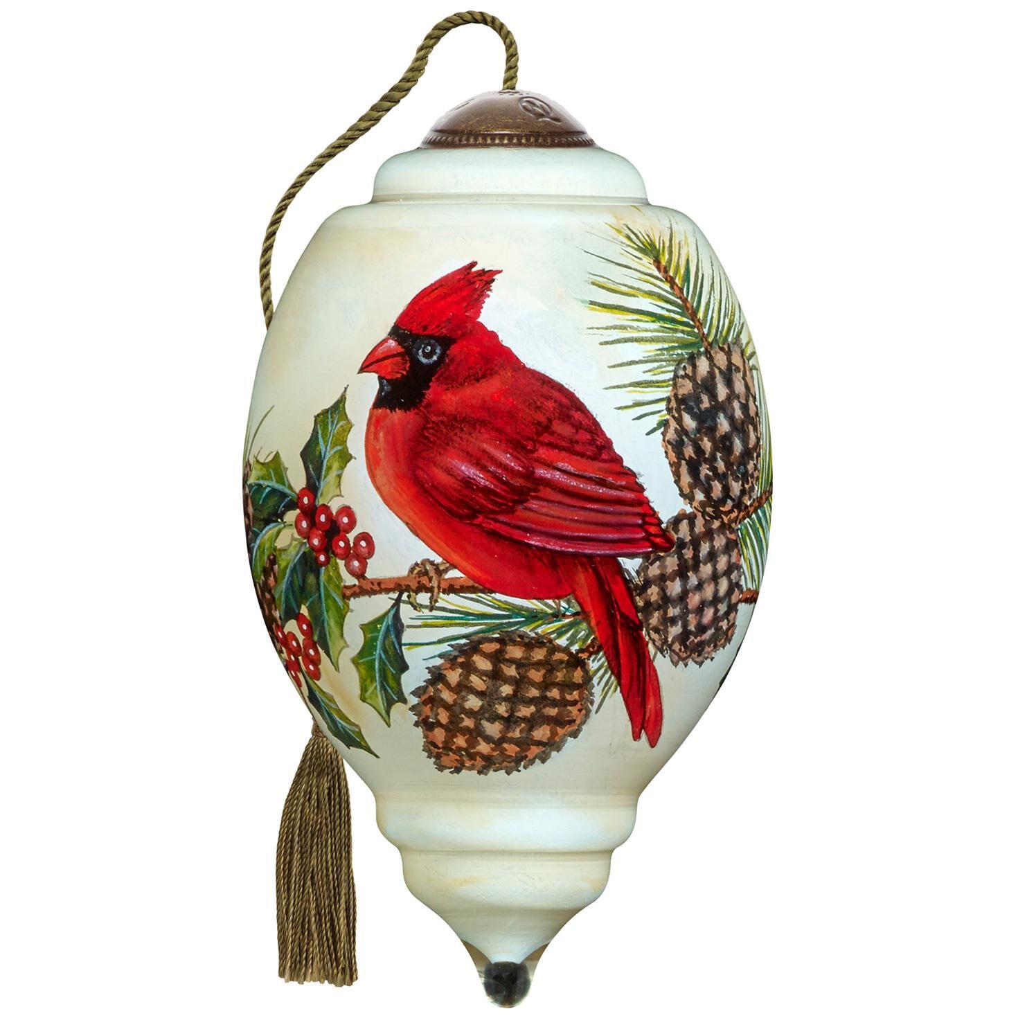 Precious Moments® Christmas Cardinal Ne'Qwa Art Glass Ornament ...