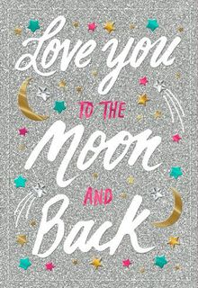 Love You to the Moon Blank Card,