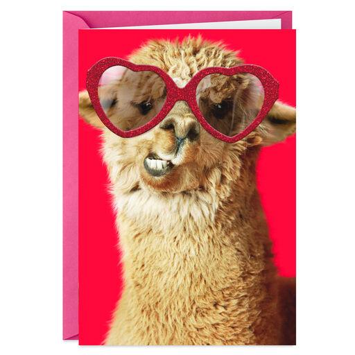 37f236a21e7 Llama Wearing Sunglasses Love Card
