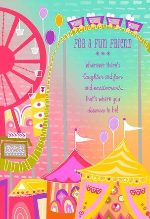 Ferris Wheel for Fun Friend Birthday Card