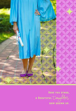 Here You Stand High School Graduation Card for Daughter