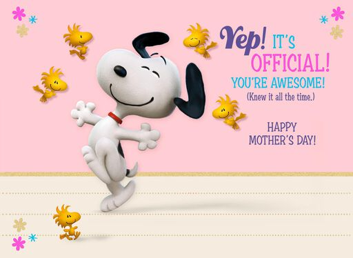 Peanuts® Awesome Nana Mother's Day Card,
