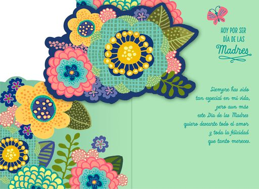 Love and Happiness Pop-Up Musical Spanish-Language Mother's Day Card,