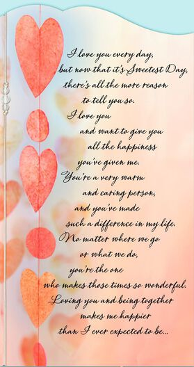 Love you every day sweetest day card sweetest day greeting cards love you every day sweetest day card m4hsunfo