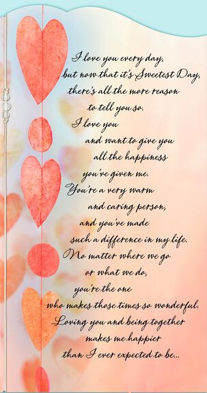 Love You Every Day Sweetest Day Card