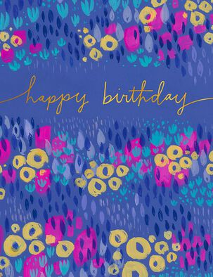 Many More Watercolor Flowers Birthday Card