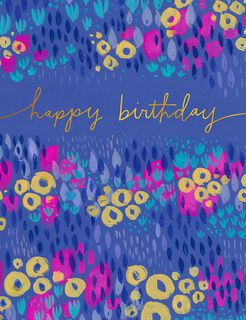 Many More Watercolor Flowers Birthday Card,