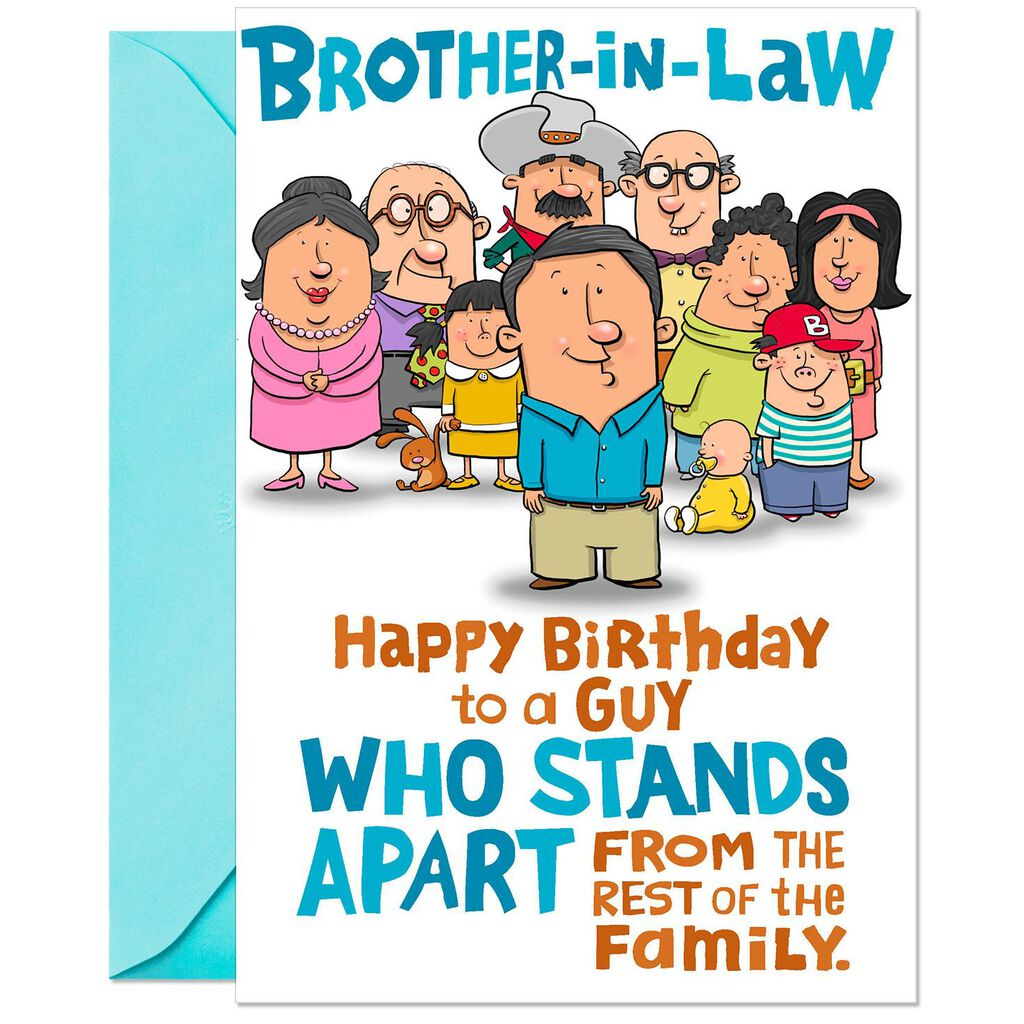 Birthday Card For Brother In Law