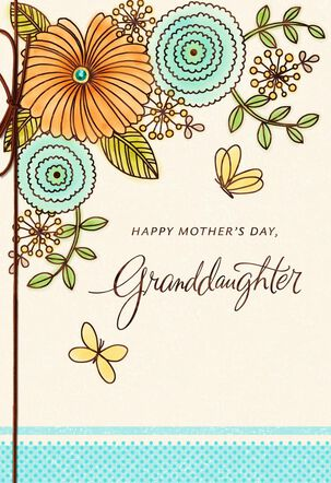 Floral Mother's Day Card  for Granddaughter