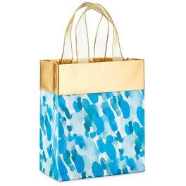 """Watercolor Raindrops Small Gift Bag, 6.5"""", , large"""
