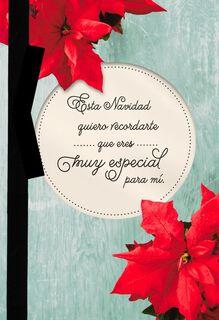 Poinsettias Spanish-Language Christmas Card,