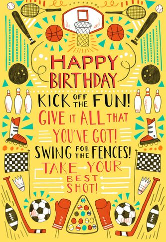 Go fight win sports lover musical birthday card greeting cards sports lover musical birthday card m4hsunfo