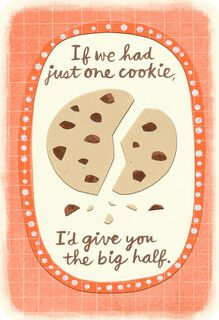 Just One Cookie Love Card,