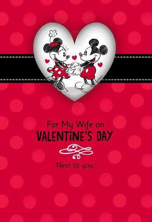 Mickey and Minnie My Wife, My Happy Place Valentine's Day Card