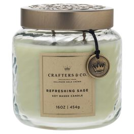 Crafters & Co. Refreshing Sage Candle, 16-oz, , large