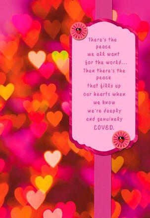 Embellished Hearts Valentine's Day Card