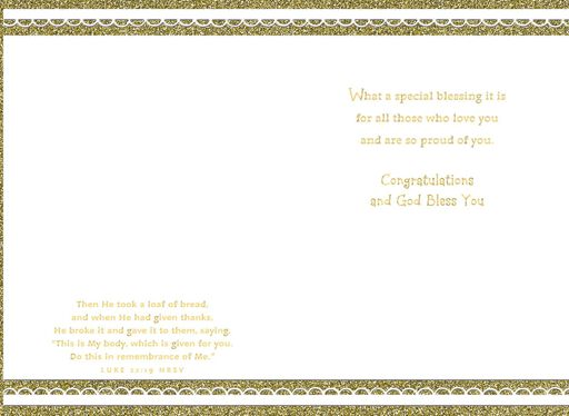 On Your First Holy Communion Card,