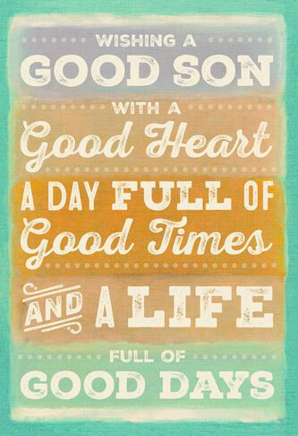 Its all good son birthday card greeting cards hallmark its all good son birthday card m4hsunfo