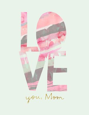 Love You, Mom Mother's Day Card