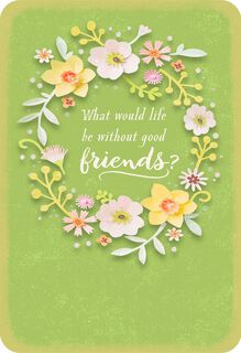 Flower Wreath Friendship Card,