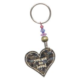 Natural Life Token Keychain You Are So Loved, , large