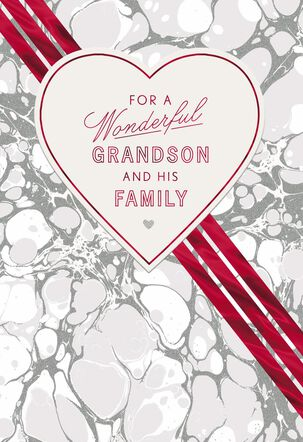 How Lucky We Are Valentine's Day Card for Grandson and Family