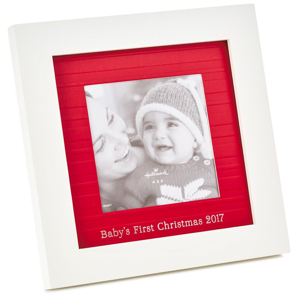 Babys First Christmas 2017 Picture Frame 4x4 Picture Frames