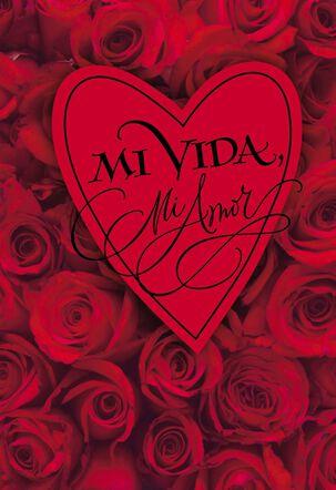My Life My Love Spanish Valentine's Day Card