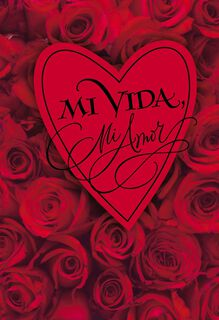 My Life My Love Spanish Valentine's Day Card,