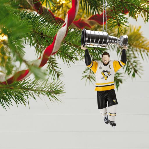 ... Pittsburgh Penguins® Stanley Cup® MVP Sidney Crosby Ornament, - Christmas Ornaments Christmas Tree Ornaments Hallmark