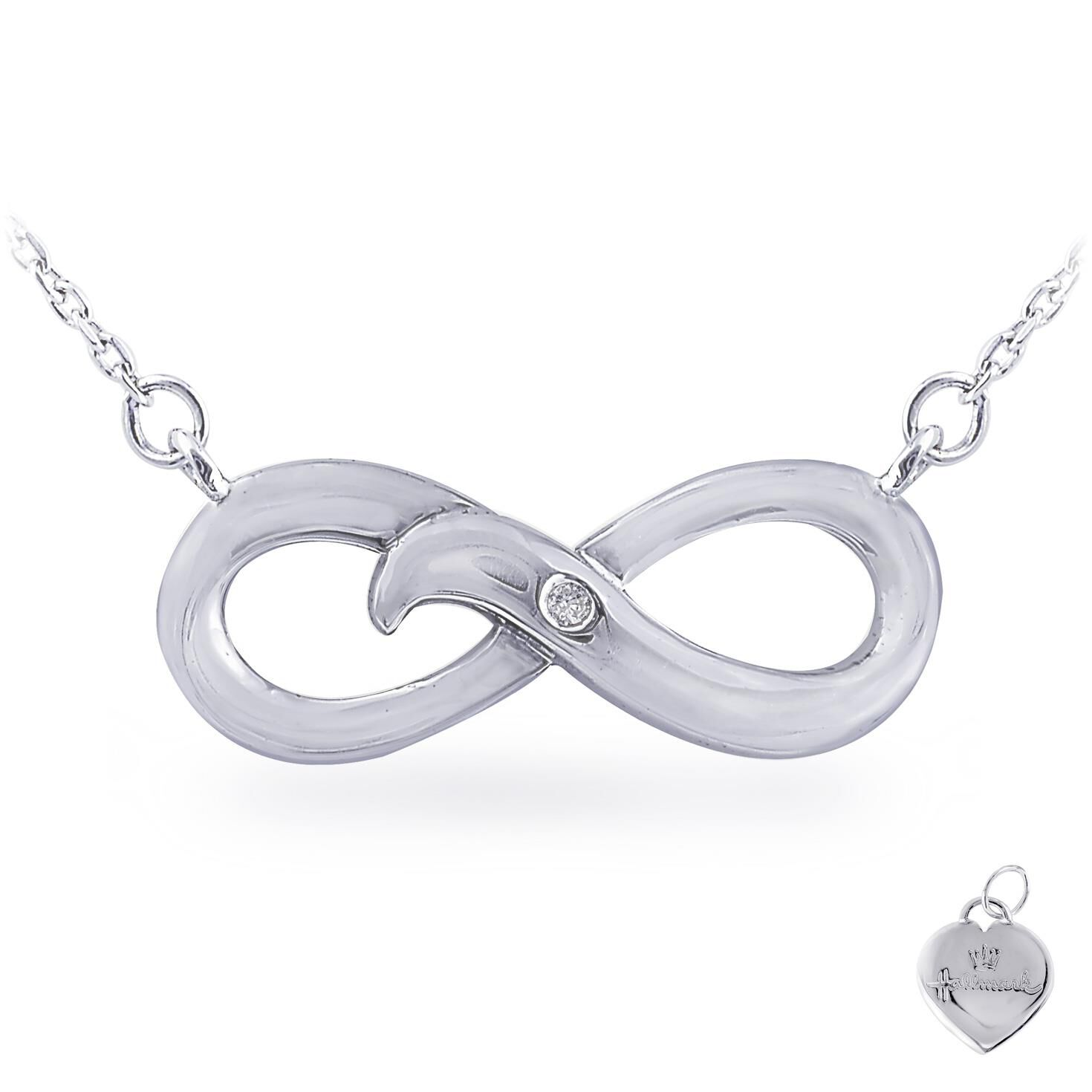 Diamond Accent Infinity Necklace in Sterling Silver Jewelry
