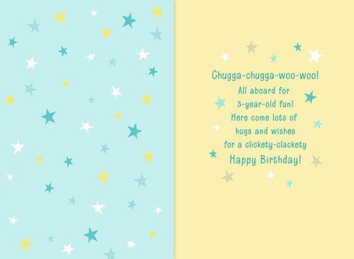 Chugga Train 3rd Birthday Card
